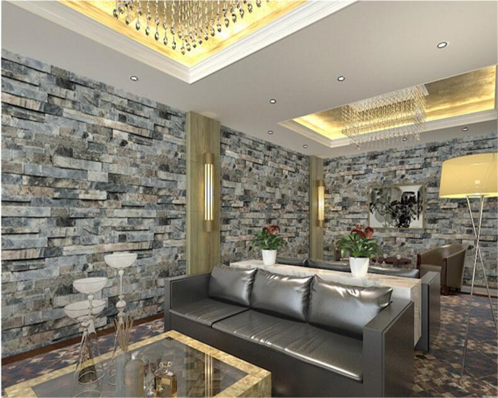 Beibehang papel de parede moderne chinese cultuur steen for Behang voor slechte muren
