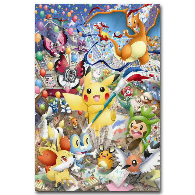 Nicoleshenting Pokemon Xy Anime Game Art Silk Poster 12x18 24x36