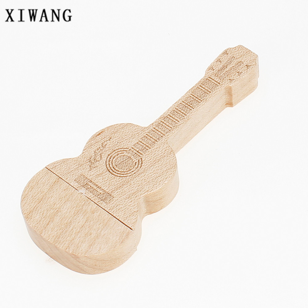 Image 2 - new usb flash drive 32GB natural wood bamboo guitar USB memory stick 2.0 4GB 8GB pendrive 16GB pen drive 64GB gift free shipping-in USB Flash Drives from Computer & Office