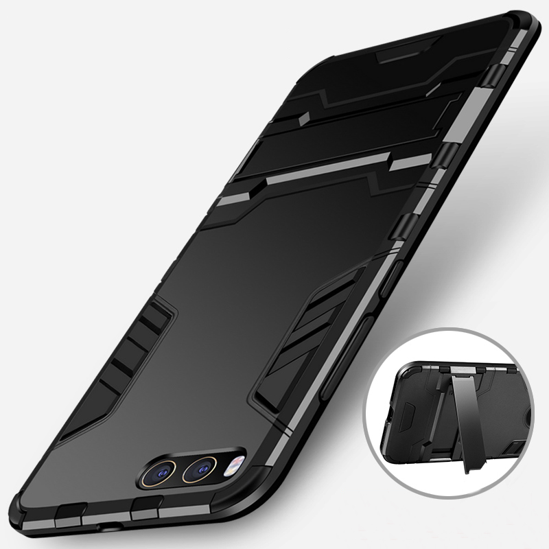 Image 2 - CAPSSICUM Mi6 Armor Case for XIAOMI MI6 PC+Silicone Hard Antiknock Shockproof Kickstand Back Cover Shell Stand High Quality-in Fitted Cases from Cellphones & Telecommunications