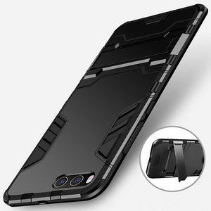Image 2 - CAPSSICUM Mi6 Armor Case for XIAOMI MI6 PC+Silicone Hard Antiknock Shockproof Kickstand Back Cover Shell Stand High Quality