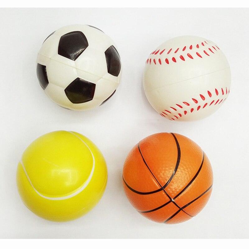 12pcs Soccer Basketball Tennis Baseball Balls Modern Stress Ball Relax Emotional Hand Wrist Exercise Stress font