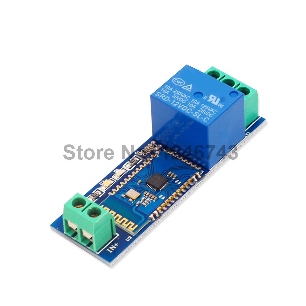 1PCS Relay Module Remote Control Switch Bluetooth 12V Relay Module for Bluetooth bluetooth control switch bluetooth module mobile phone control relay smart home