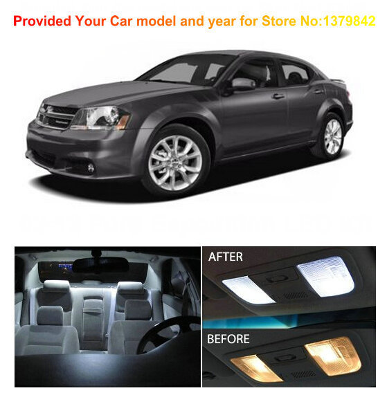 Free Shipping 10pc Auto Accessories Led Light Bulbs For Cars LED Car Lights  Car Interior Lighting For Dodge Avenger 2008 2012 In Signal Lamp From ...