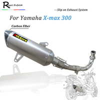x max300 Motorcycle Exhaust Pipe Escape exhaust slip on muffler middle down exhaust pipe Dedicated For Yamaha x max 250 xmax300
