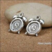 120pcs Charms vintage Alarm clock Pendant Tibetan silver Zinc Alloy Fit Bracelet Necklace DIY Metal Jewelry Findings