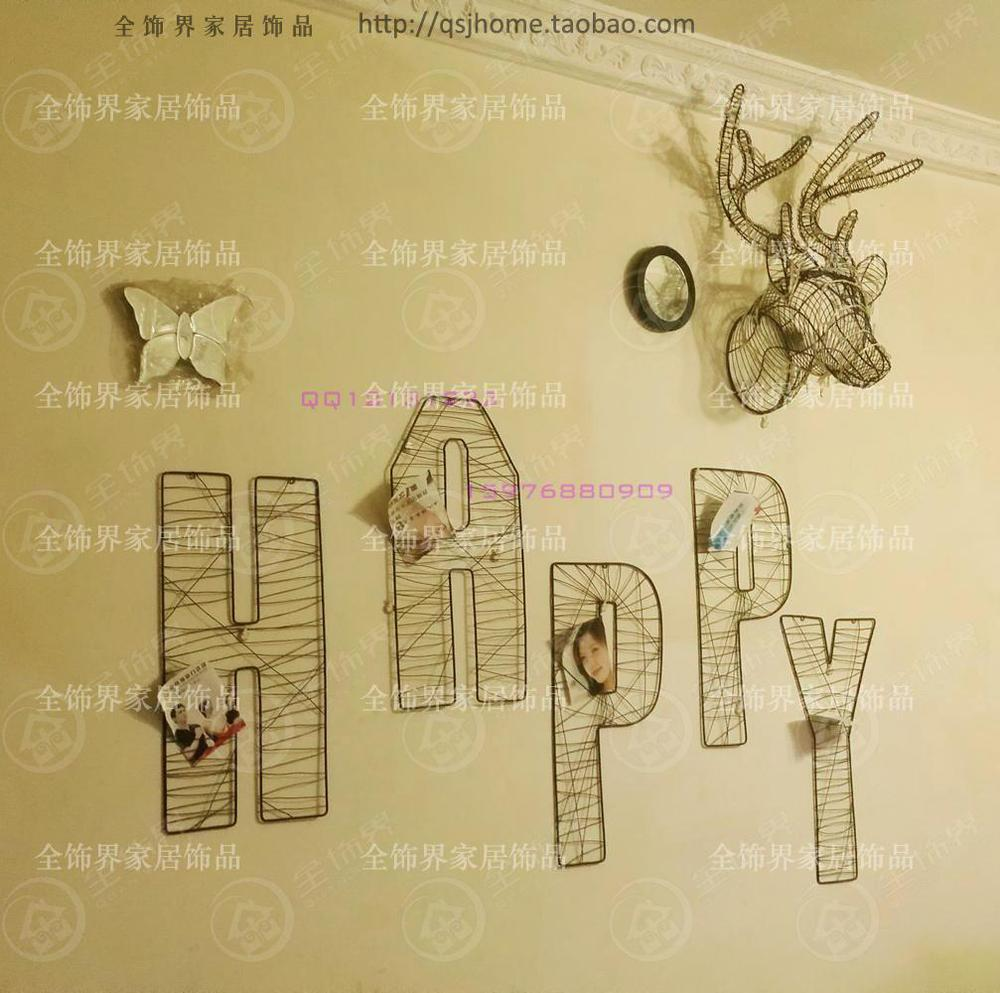 Aliexpress.com : Buy Fashion wire letter wall decoration metal wire ...