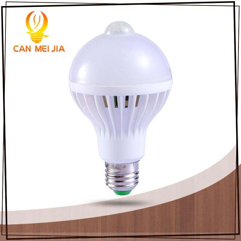 1 шт. PIR датчик движения лампы 5 Вт из светодиодов E27 лампа 7 Вт 9 Вт авто смарт из светодиодов пир инфракрасный фонарь тело с движения-сенсор фары