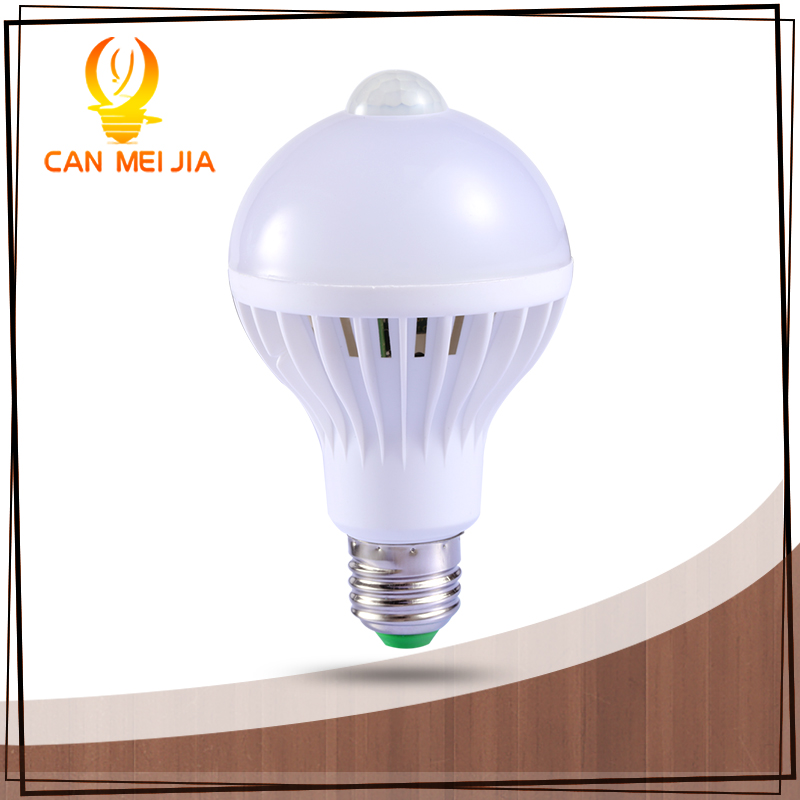 PIR Motion Sensor Lamp 5w LED E27 Bulb