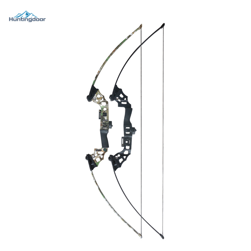40lbs Archery Hunting Bow 51inch Shooting Take Down Bow Black/Camouflage Camo Hunting Bow for Adult Hunter Fishing Straight Bow soft arrowhead 20lbs camouflage archery cs game compound bow slingshot take down bow for hunting shooting practice games