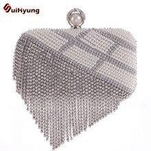 Neue Design Frauen Party Abendtaschen Mode Quaste Diamant Perlen Fest Box Tag Erfasst Damen Perlen Handtasche Frau Taschen