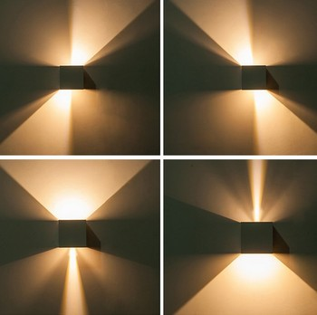 Cube COB LED Indoor Lighting Wall Lamp Modern Home Lighting Decoration Sconce Aluminum Lamp 6W 12W 85-265V For Bath Corridor