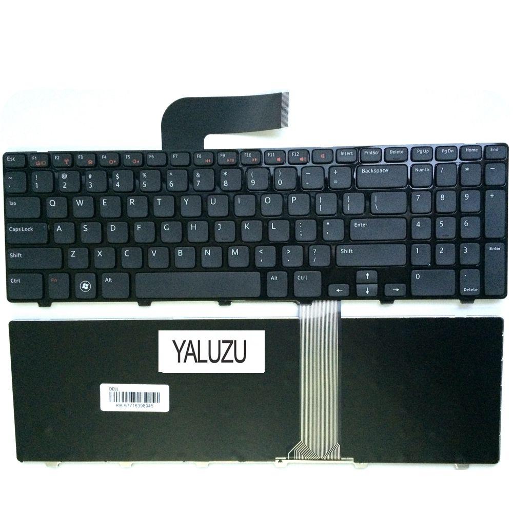 Bilgisayar ve Ofis'ten Yedek Klavyeler'de YALUZU İngilizce dizüstü bilgisayar dell için klavye Inspiron 15R N5110 M5110 N 5110 ABD title=