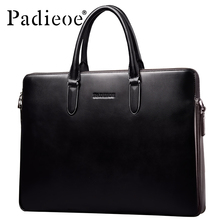 Padieoe 2017 New Business Men's Briefcase Famous Brand High Quality Genuine Leather Briefcase Laptop Notebook Bags