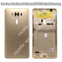 Battery Door Back Case Housing Door Battery Back Cover For Asus Zenfone 3 Deluxe ZS550KL Z01FD back housing free shipping+tools(China)