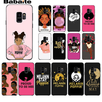 2bunz Melanin Poppin Aba TPU Soft Silicone Phone Case Cover For Samsung Galaxy s9 s8 plus note 8 note9 s7 s6edge Cover Babaite image