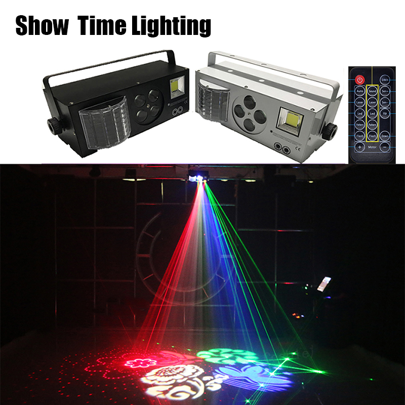 Fast Delivery Remote Control LED 4 In 1 Gobo Laser Strobe Effect Color 4 Eyes Image Light Good Use For Home Entertainment KTV