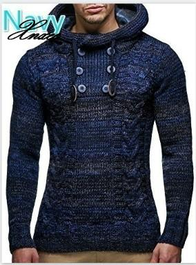 Sweaters Blouse Long Sleeve Hooded Pullovers Sweater Men 2020 Autumn Winter Plus Size Knitwear Pull Homme 3XL