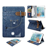 For IPad 2017 New Model 9 7 Jean Leather Case Shockproof Protective Stand Skin For Apple