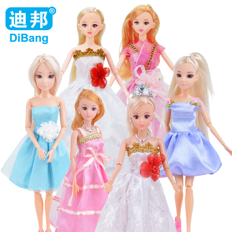 Barbie doll childrens doll 6 joints can be active DOLL + clothes + girl toy accessories Birthday gift for girls YXX