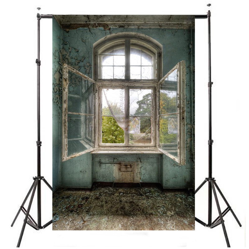 3x5FT vinyl Window Photography Backdrop photo Studio Props Vintage retro scenery Background Cloth 1x1.5m christmas background pictures vinyl tree wreath gift window child photocall fairy tale wonderland camera photo studio backdrop