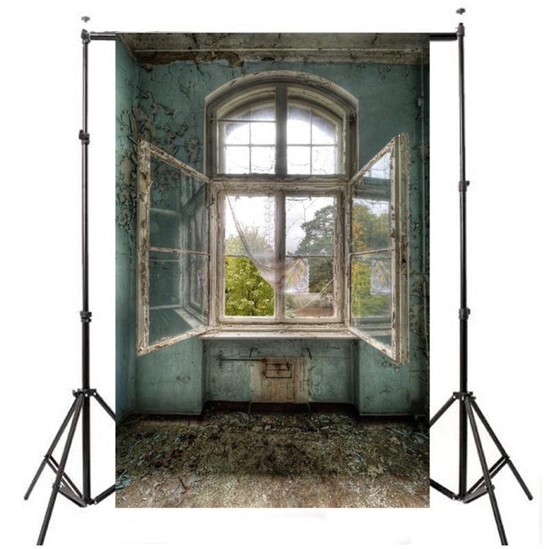 3x5FT vinyl Window Photography Backdrop photo Studio Props Vintage retro scenery Background Cloth 1x1.5m(China)