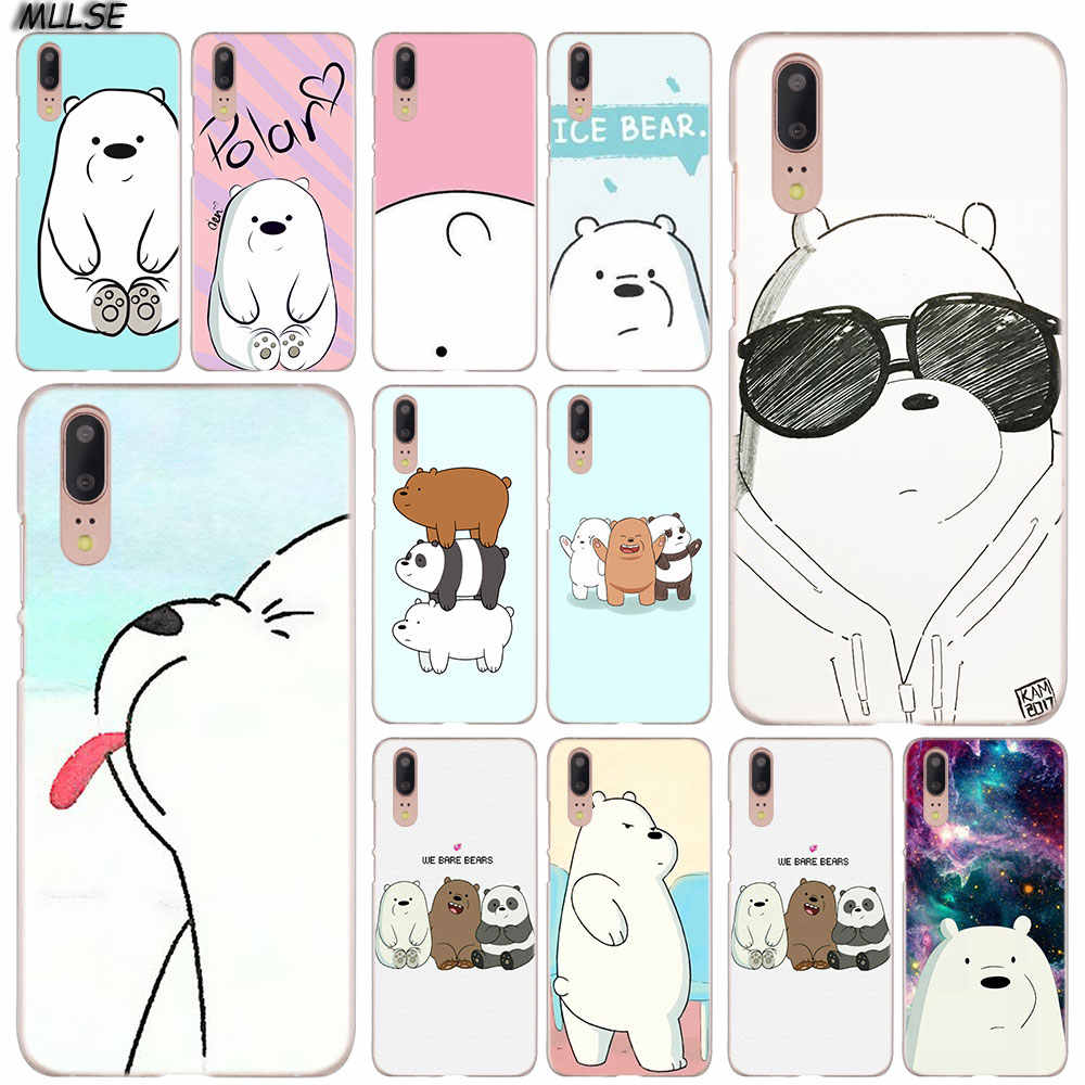 MLLSE We Bare Ice Bear Panda Fashion Clear Case Cover for Huawei P30 P20 P10 P9 P8 Lite 2017 P30 P20 Pro Mini P Smart Plus Cover
