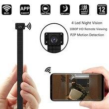 Мини Wi-Fi Cam 1080 P видеокамера мини Ip Камера видеонаблюдения Ночное видение модуля 2,4 г РФ дистанционного Управление инфракрасный Камера