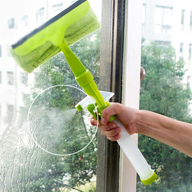 Multi-Function Window Glass Cleaner Spray Water Glass Cleaning Brush x30406