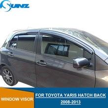 цена Car window rain protector For Toyota YARIS 2008-2013 wind visor for Toyota YARIS 2008 2009 2010 2011 2012 2013 HATCH BACK SUNZ