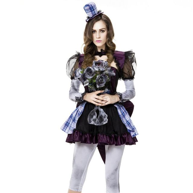 Halloween Bridesmaid Costumes.Us 38 0 Ghost Bridesmaid Clown Women S Costumes For Halloween Carnival Costumes Cosplay Costume Witch Costume Medieval On Aliexpress Com Alibaba