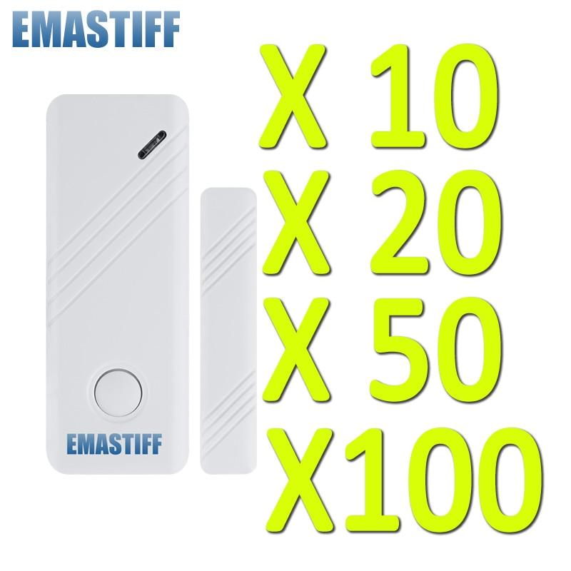 bilder für Türspalt Sensor Kostenloser versand GSM Alarm System 433 Mhz neue HEIßE 10/20/50/100 STÜCKE drahtlose tür/fenster Home Security Alarm System