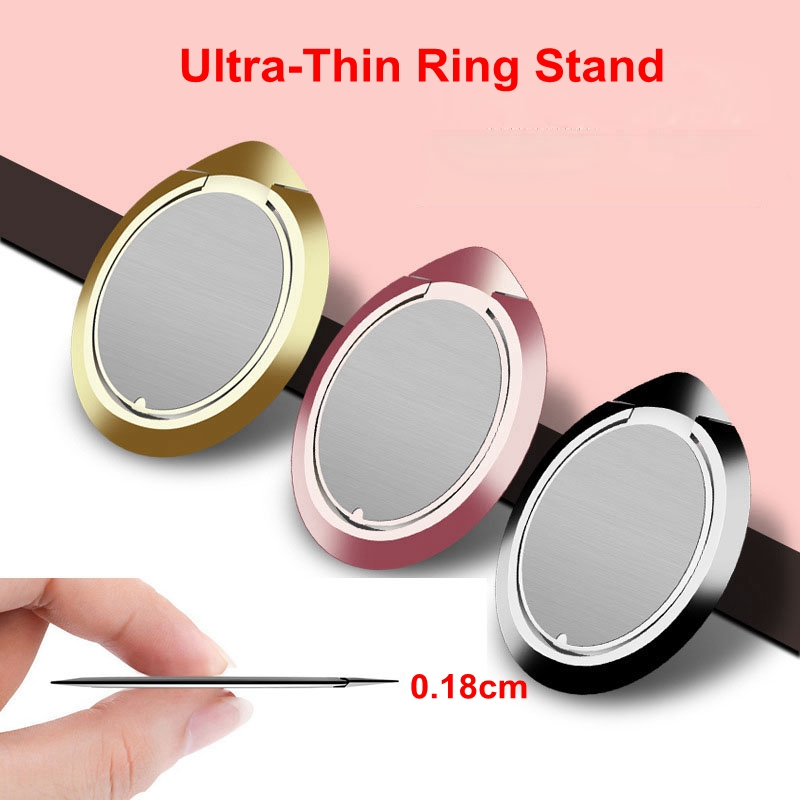 New Universal Ultra-thin Finger Ring Phone Holder Magnetic Adsorption Function Cell Kickstand Stand