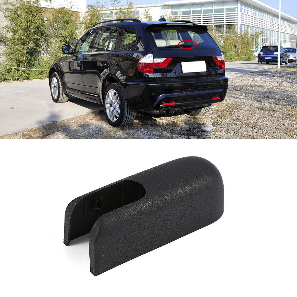 Car Auto Styling Accessories Repair Part For BMW X3 E83 2004-2010 Rear Windshield Wiper Arm Nut Cover Cap Plastic(China)