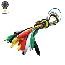 WAVGAT 10PCS Alligator Clips 50CM Electrical DIY Test Leads Alligator Double ended Crocodile Clips Roach Clip Test Jumper Wire