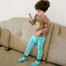 0-6Y Cartoon Baby Boys Girls Leggings Autumn Winter Warmer Cotton PP Pants Trousers+Socks
