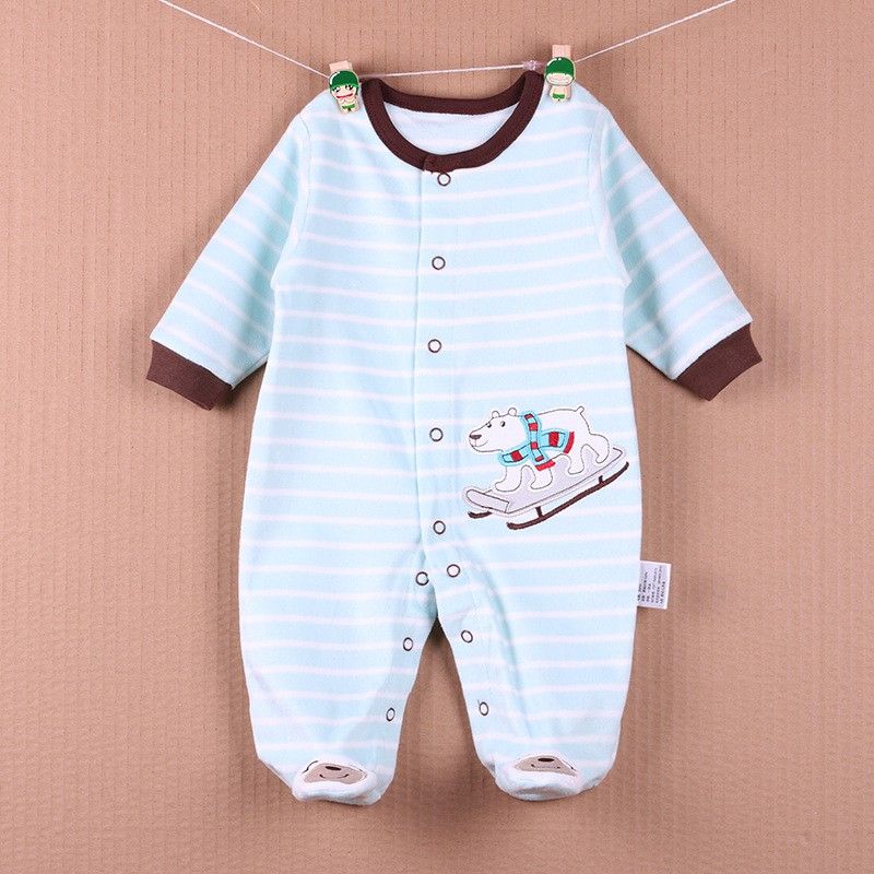 New Arrival Baby Footies Boys&Girls Jumpsuits Spring Autumn Clothes Warm Cotton Baby Footies Fleece Baby Clothing Free Shipping (35)