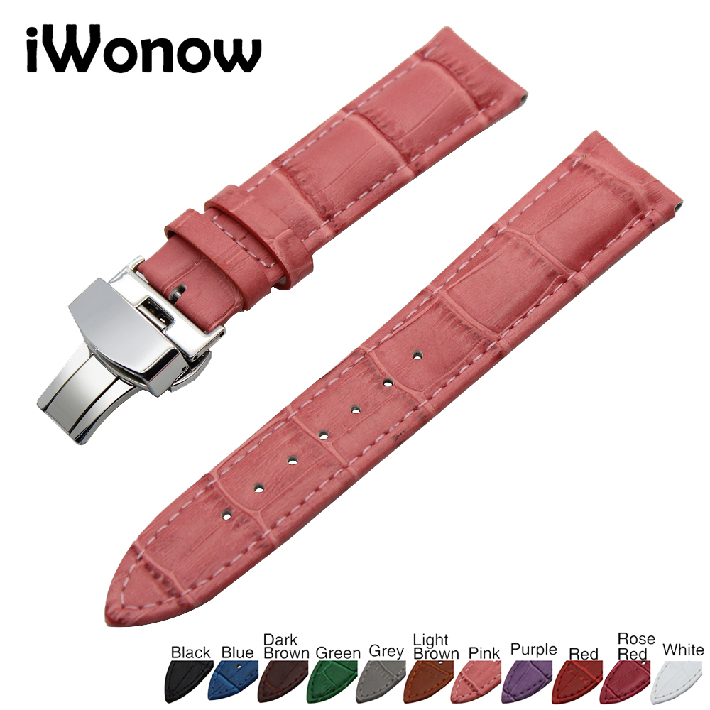 Genuine Leather Watch Band 22mm for Samsung Gear S3 Classic / Frontier Stainless Butterfly Buckle Strap Wrist Belt Bracelet pure ceramic watch band 22mm for samsung gear s3 classic frontier butterfly buckle strap wrist belt bracelet black white polish