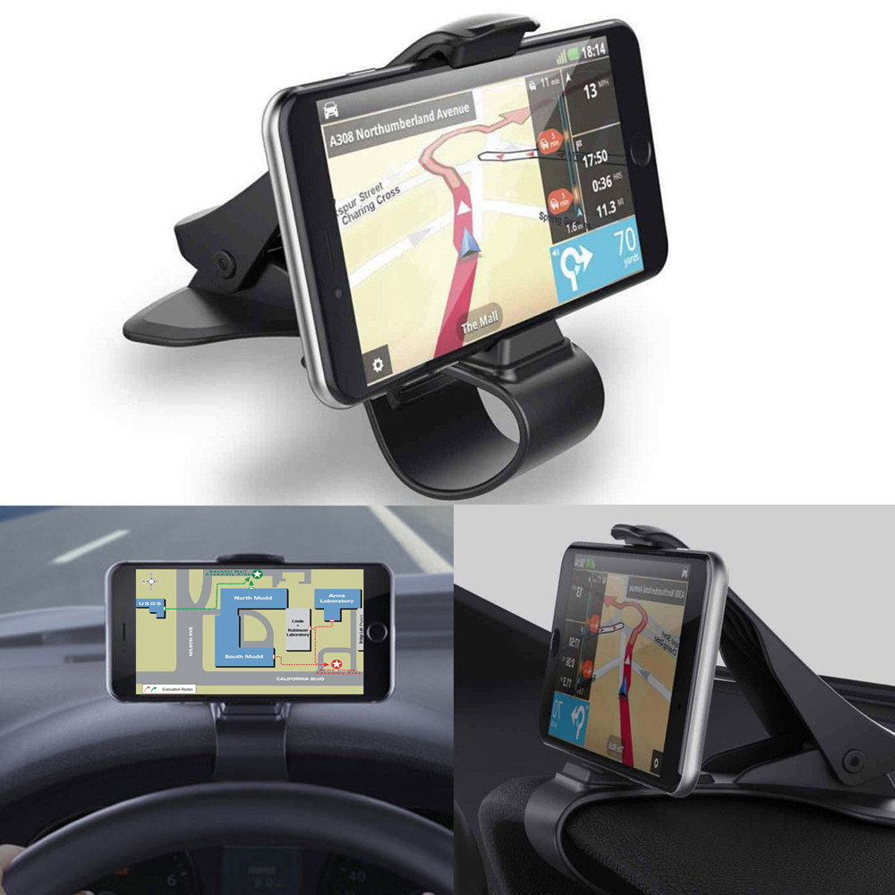 Car Phone Holder Stand Universal Car Dashboard Cell Phone GPS Mount Holder Stand HUD Design Cradle New for For iPhone 6 7 8 Plus raxfly luxury car phone holder for iphone x xs 8 7 plus windshield car mount phone stand 360 car holder for samsung s9 s8 note 9