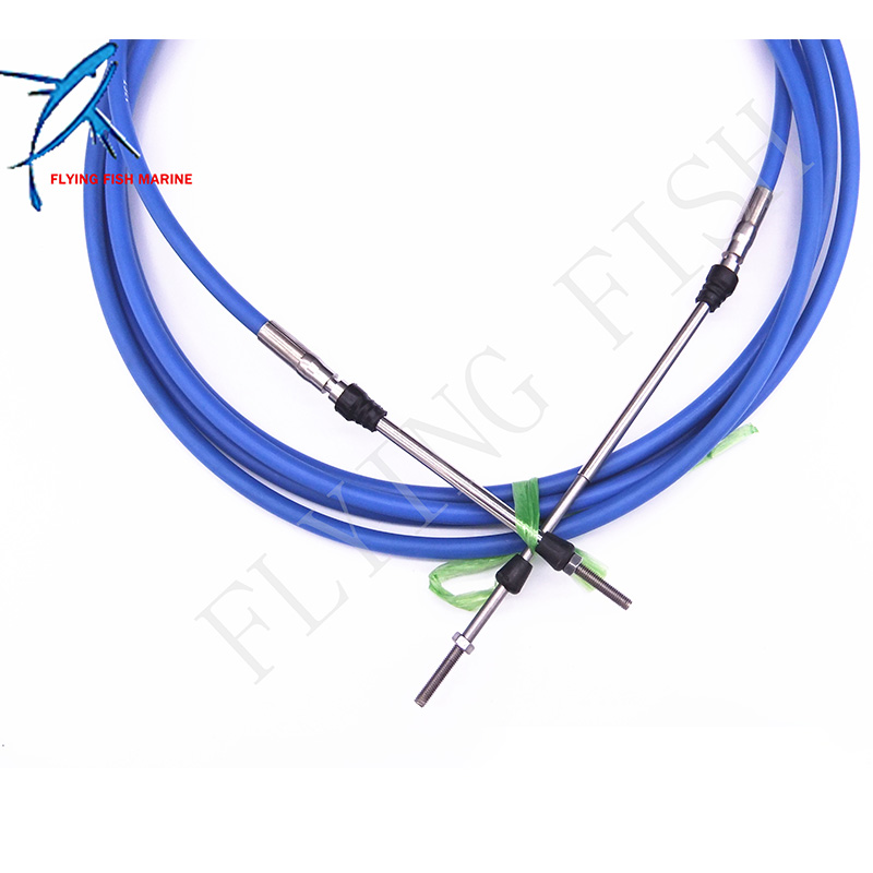 ABA-CABLE-18-GY Outboard Engine Remote Control Throttle Shift Cable 18ft for Yamaha Boat Motor Steering System 5.486m Blue декоративные свечи home philosophy подсвечник edina цвет бронзовый коричневый 24х20х95 см
