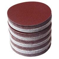 30 шт./компл. 5 дюймов 125 мм круглый шлифовальным диском песок листы зернистости 80/100/120/180/240/320 крюк и петля шлифовальные диски для наждачная бум...