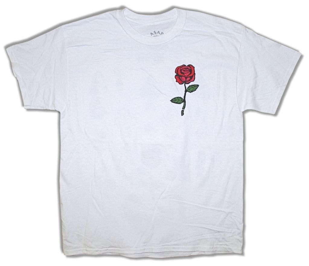 ASAP Yams Red Rose Yamborghini High White T-Shirt New Official A$AP Mob Casual Plus Size T-Shirts Hip Hop Style Tops Tee S-3Xl