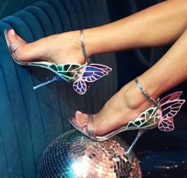 New Design High Quality Women Butterfly High Heels Sandals Exquisite Beautiful Wing Shoes Female Banquet Paty Dress Shoes