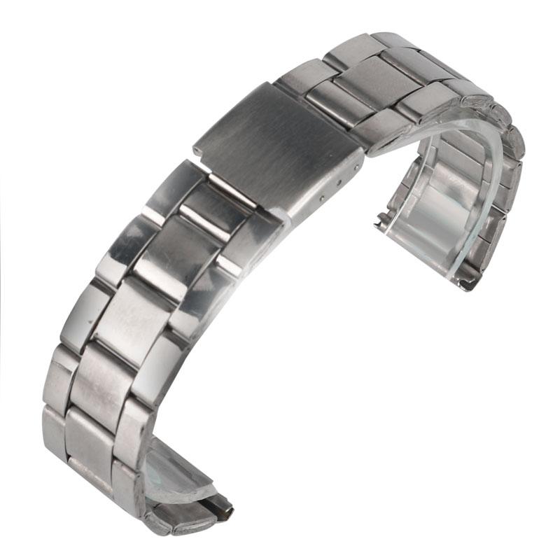9c3d396d3ce09 Moda hombres Correa 20mm astilla de acero inoxidable broche plegable  reemplazo ocasional sólido enlace reloj Correa
