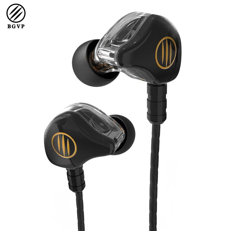 Mais novo BGVP DS1 Híbrido Armadura Balanceada Dinâmica do Fone de ouvido Fone de Ouvido de Alta Fidelidade Febre MMCX Audiófilos Música Em fones de Ouvido Fones de Ouvido Do Monitor