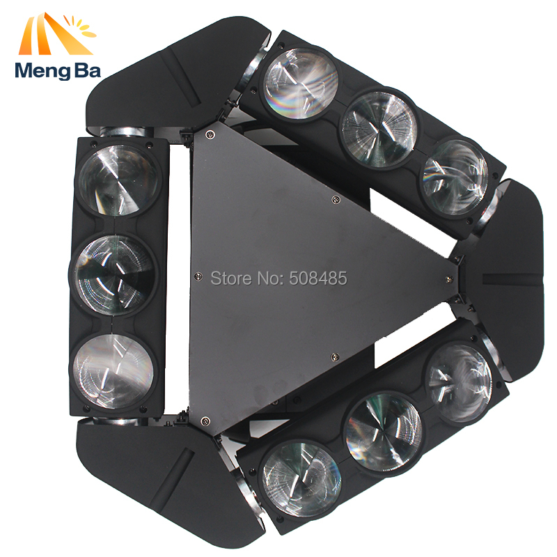 New Arrival LED Lamp 9x10W Led Spider Light RGBW 13/45CH DMX Stage Lights Dj Led Spider Moving Head Beam Light DJ /Bar/Home 9 moving head laser spider light green color 50mw 9 triangle spider moving head light laser dj light disco club event