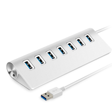USB 3.0 HUB aluminum 7 port high speed 5Gbps multiple ports usb splitter Adapter 3 hub for computer laptop hab