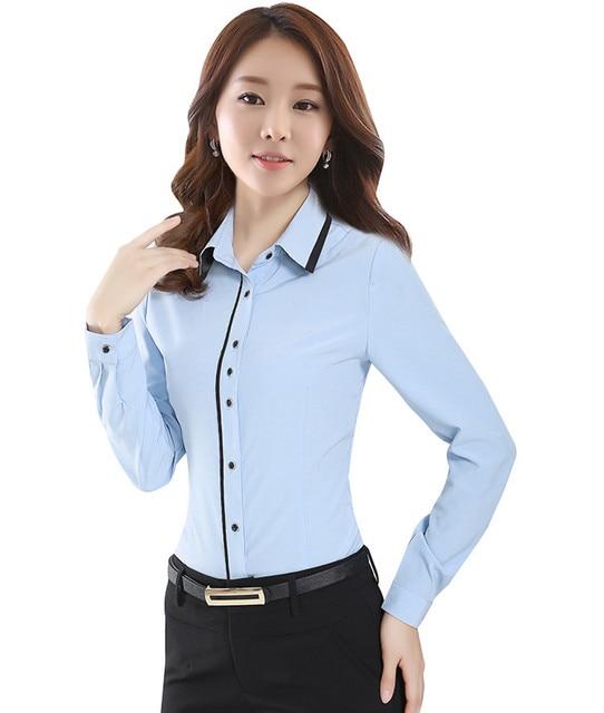 New 2017 Women's Shirt Long Sleeve Women Blouses Ladies Office Shirts Tops White Shirt Female Blusas Camisa Mujer