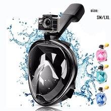 Дайвинг Маска анфас Анти-туман подводное плавание маска для подводного Подводное Подводная охота Маска Дети/взрослых очки обучение погружения оборудования