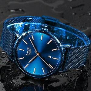 Image 2 - LIGE Womens Watches Top Brand Luxury Waterproof Watch Fashion Ladies Stainless Steel Ultra Thin Casual Wristwatch Quartz Clock